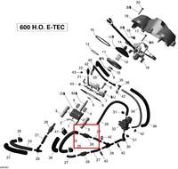Датчик клапана SkiDoo Summit/GSX/Renegade/Skandic 800/600 420660545/420660543
