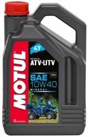 Моторное масло минеральное Motul ATV-UTV 10W40 4T 1L 4L 105878 105879