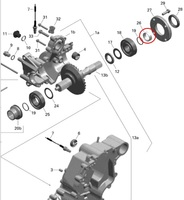 Втулка уплотнительная вала коробки передач BRP 420247113