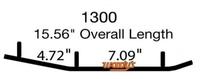 Коньки для лыж снегохода Woody's Polaris EPI3-1300 WPI-1300-1 (2879025)-1
