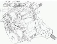 Задний редуктор коробка для Polaris RZR 900 1333187