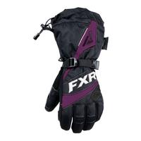 Перчатки FXR Fusion Black Plum с утеплителем женские 190820-1082