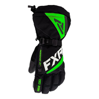 Перчатки FXR Fuel (Black Lime) с утеплителем 220810-1070