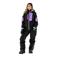 Комбинезон FXR Recruit (Black Purple Fade Seafoam) без утеплителя 222911-1081