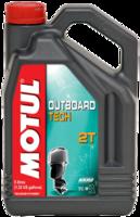 Масло для лодочного мотора Motul Outboard Tech 2T Technosynt 5L 101728