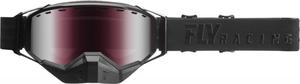 Очки снегоходные FLY RACING ZONE Черные с розовой линзой 37-5024