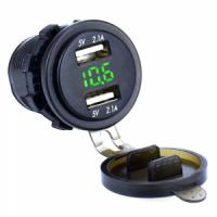 Разъем USB 2,1А с вольметром