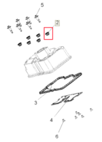 Втулка уплотнительная болта клапанной крышки квадроцикла Polaris 5413333