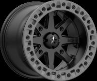 MSA M31 LOK2 Satin Black Matte Gray Ring, R14x7, 4x137  диск колесный с бедлоком для квадроциклов BRP Can-Am M31-04737