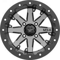 MSA M21 LOK Charcoal Tint, R14x7, 4x137  диск колесный с бедлоком для квадроциклов BRP Can-Am M21-04737