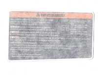 Наклейка информационная 704903801