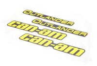 Наклейки расширителей арок (желтые) Can Am BRP 704906478