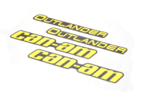 Наклейки расширителей арок (желтые) Can Am BRP 704906478 704906479 704906480 704907484