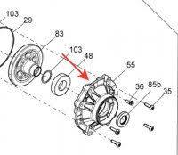 Крышка редуктора для квадроцикла BRP 705502051