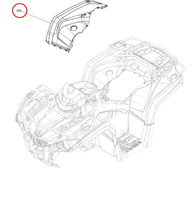 Крыло заднее правое черное для квадроцикла BRP Can-Am Outlander G2L XMR 715003306