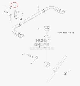Сайлентблок заднего стабилизатора оригинальный нижний для квадроцикла Polaris 5437423