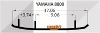 Коньки для лыж снегохода Woodys Yamaha  AY6-8800-1