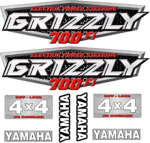 Комплект наклеек для Yamaha Grizzly 700 до 2014 43P-2173E-00-00 43P-2173E-00-00 5KM-2173B-00-00 3B4-2163G-90-00 3B4-2163G-80-00 3B4-2163G-90-00 3B4-2163G-80-00 DC700