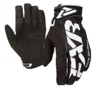 Перчатки мужские FXR Cold Cross Race Adjustable, Black White