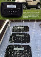 Магнитола влагозащищенная Hasda с bluetooth и aux 4 x 50W H-8103