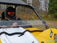 Стекло половинка прозрачное квадроцикла Yamaha YXZ 1000 HWS-Y-YXZ-70