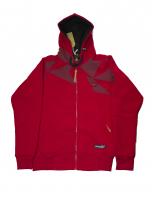 Толстовка с капюшоном на молнии FullT Cristal Красная