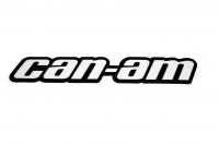 "Наклейка квадроцикла BRP Can Am ""Can-Am"" на арку черно-белая 704902732"