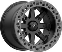 Диск колесный с бедлоком M31 LOK2 Satin Black Matte Gray Ring R14x7 (4x156) для квадроцикла Polaris M31-04756