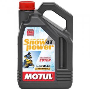 Моторное масло синтетика Motul Snowpower 4T 0W40 4л