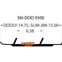 Коньки для лыж снегохода Woodys Ski-Doo Lynx  DS4-9500-1 860201043
